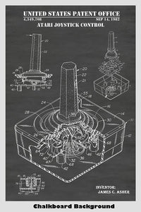 Atari Video Game Joystick Control Patent Print Art