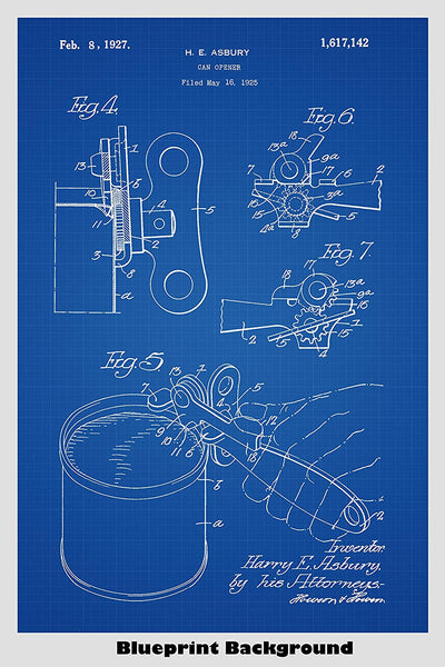Can Opener Patent Print Art Poster