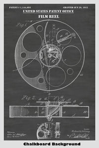 Film Projector Reel Patent Print Art