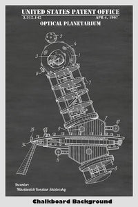 Optical Planetarium Patent Print Art Poster