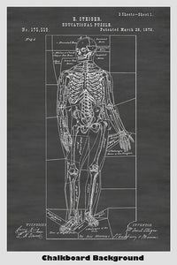 Victorian era educational skeleton puzzle patent