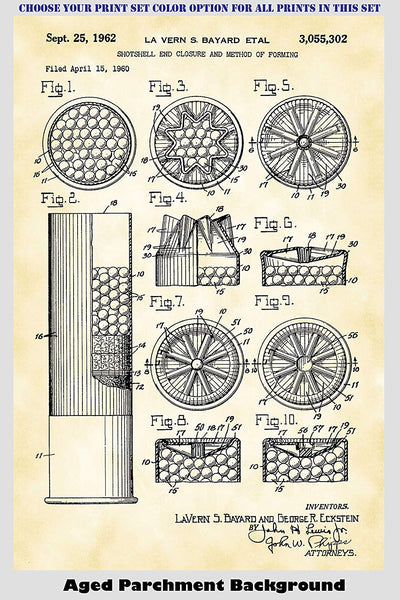 Shotgun Shell & Reloading Equipment Patent Print Art Posters Wall Decor Collection