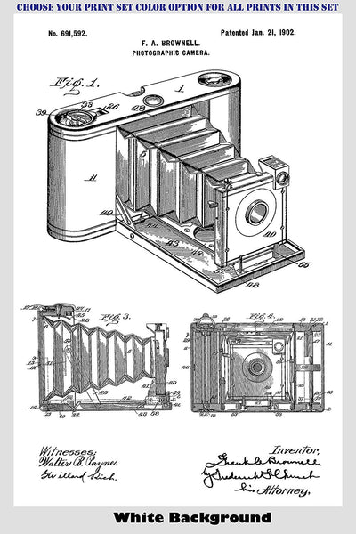 Vintage Camera Inventions Patent Print Art Posters Wall Decor Collection