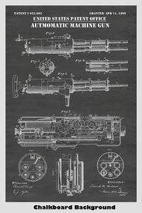 Garland Machine Gun Patent Print Art Poster