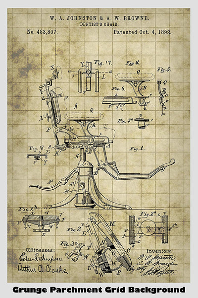 Dentist's Chair Patent Print Art Poster