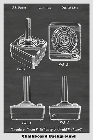 Atari Video Game System Joystick Patent Art
