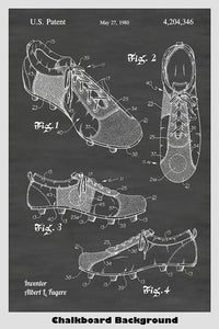 Cleated Soccer Shoes Poster Patent Print Art Poster