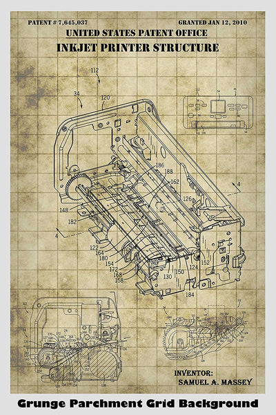 Inkjet Printer Patent Print Art Poster
