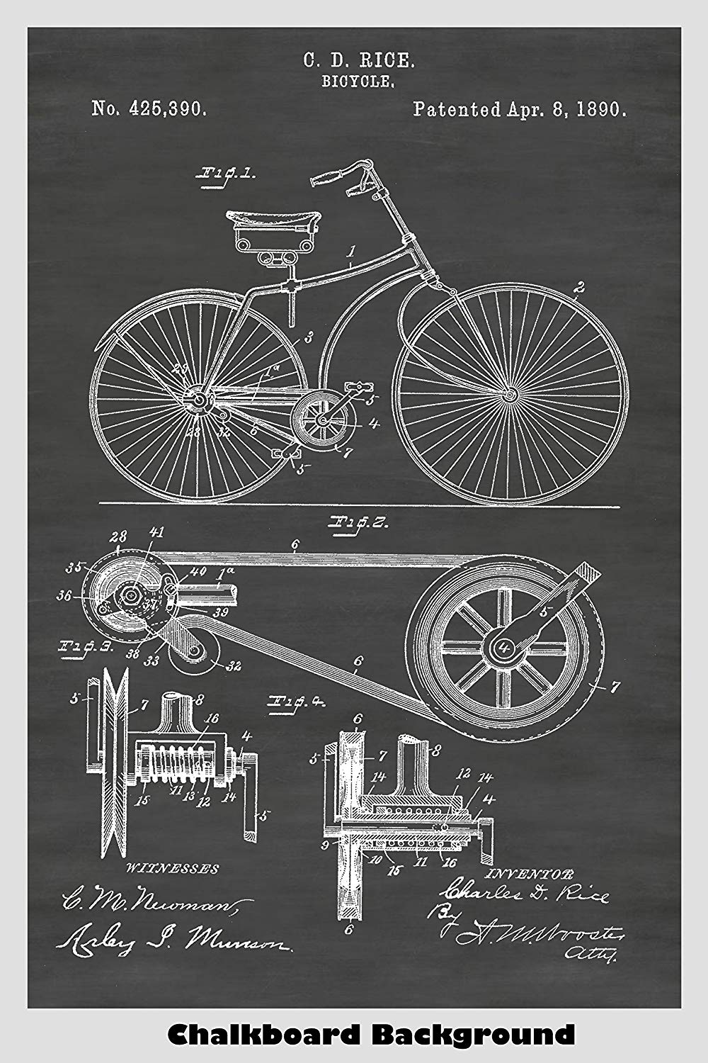 Victorian Era Bicycle With A Belt Drive System