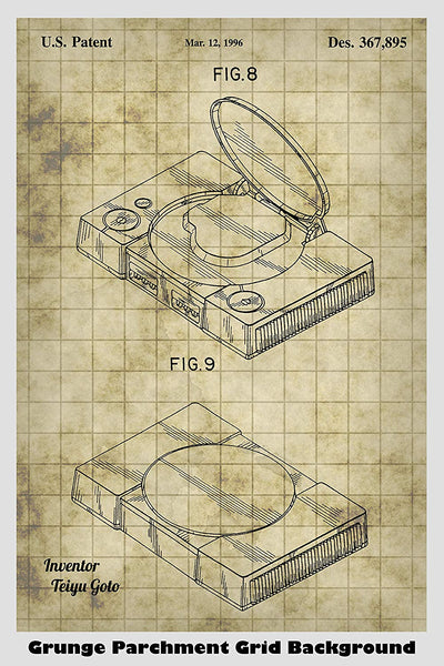 Sony PlayStation Video Game System Patent Print Art Poster