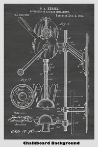 Combination Hand Mixer And Juicer Patent Print Art