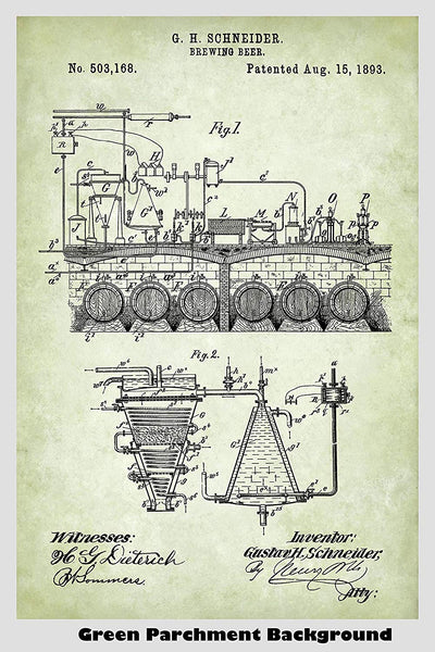 Beer Brewing Equipment Patent Print Art Poster