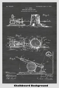 Endless Chainsaw Patent Print Art