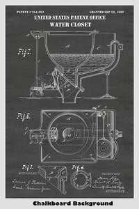 A patent for a late 19th century water closet (toilet)