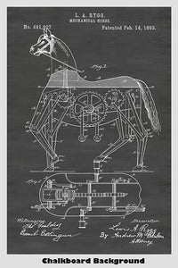 Mechanical Hobby Horse Patent Print Art Poster