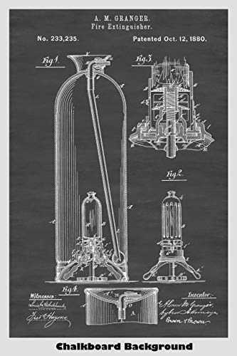 Vintage Fire Extinguisher Patent Print Art Poster