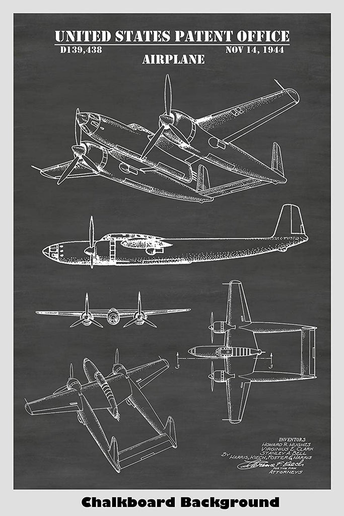 Howard Hughes XF-11 Airplane Patent Print Art Poster – Patent Prints