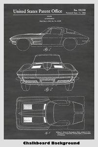 Corvette Stingray Patent Print Art