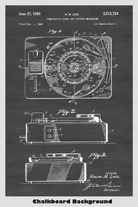 Sound and Picture Record Player Patent Print Art Poster