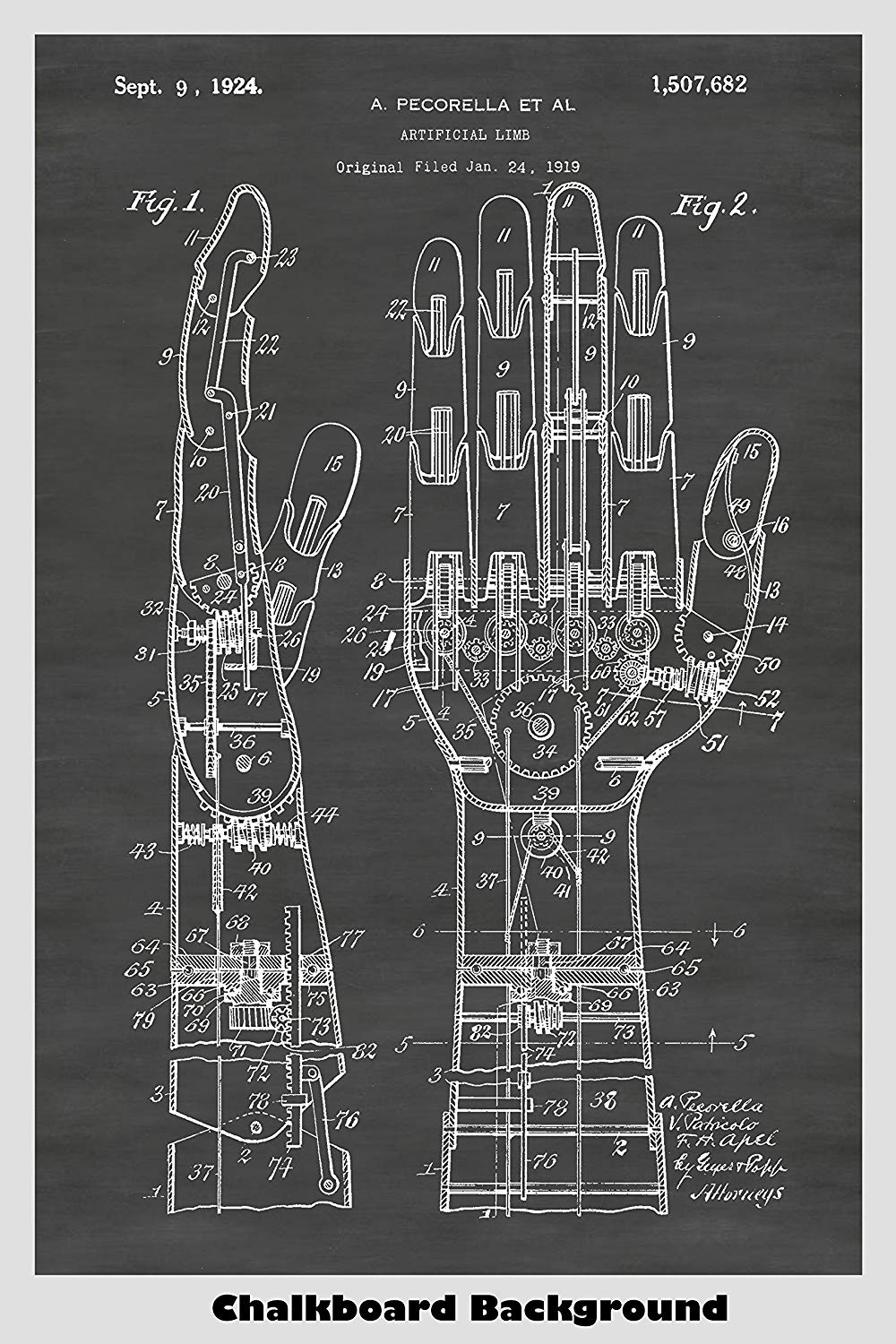 Steampunk artificial fully articulated hand