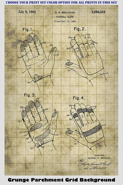 Vintage Football Equipment Patent Print Art Posters Wall Decor Collection