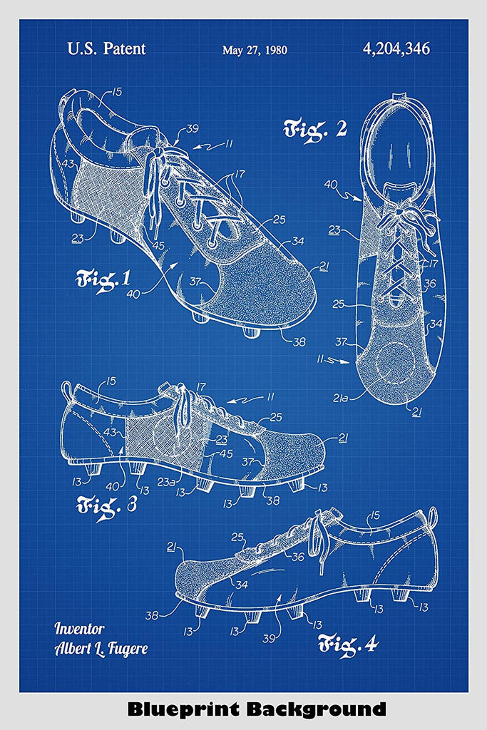 cf674f3253b06 Cleated Soccer Shoes Poster Patent Print Art Poster – Patent Prints ...