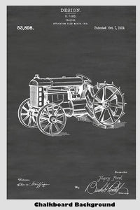 Henry Ford Farm Tractor Patent Print Art Poster
