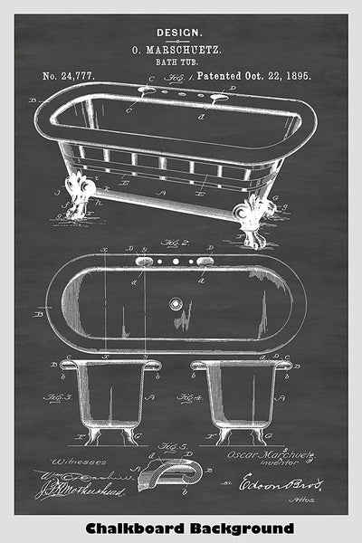 Victorian Era Claw Bathtub Poster - Great For Bathroom Decor