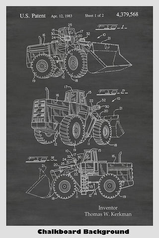 Loader Tractor Truck Patent Print Art Poster