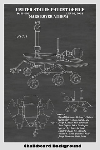 Mars Exploration Rover Patent Print Art Poster