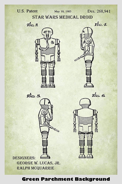 Star Wars Medical Droid Patent Print Art Poster
