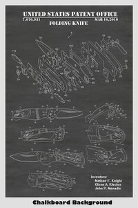 Leatherman Folding Pocket Knife Patent Print Art Poster