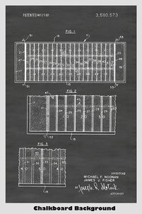 Football Field Patent Print Art Poster