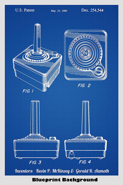 Atari Video Game System Joystick Patent Print Art Poster