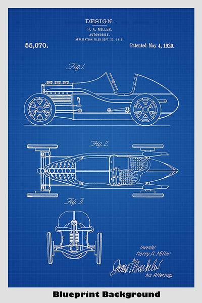 Antique Roadster Patent Print Art Poster