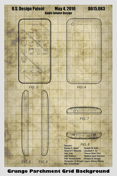 Apple iPhone Patent Print Art Poster