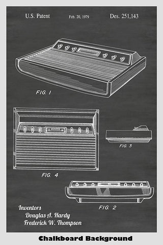 Atari 2600 Video Game System Patent Print Art