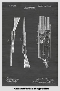 Browning Automatic Rifle Patent Art Poster