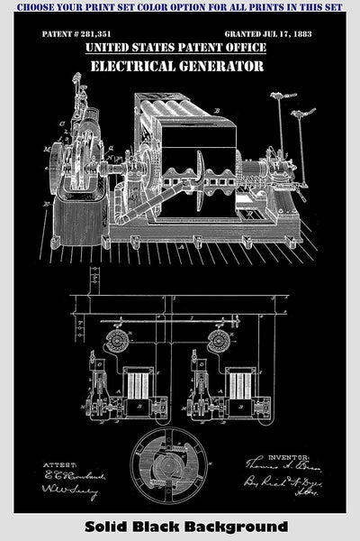 Thomas Edison Inventions Patent Print Art Posters Wall Decor Collection