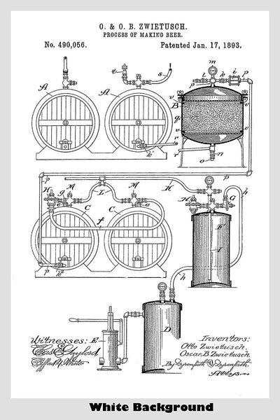 Beer Making Apparatus Poster Patent Print Art Poster