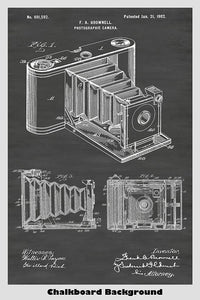 Antique Photographic Camera Patent Print Art Poster