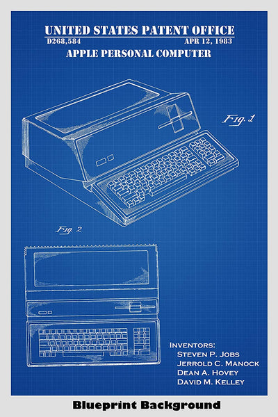 Apple Personal Computer Patent Print Art Poster