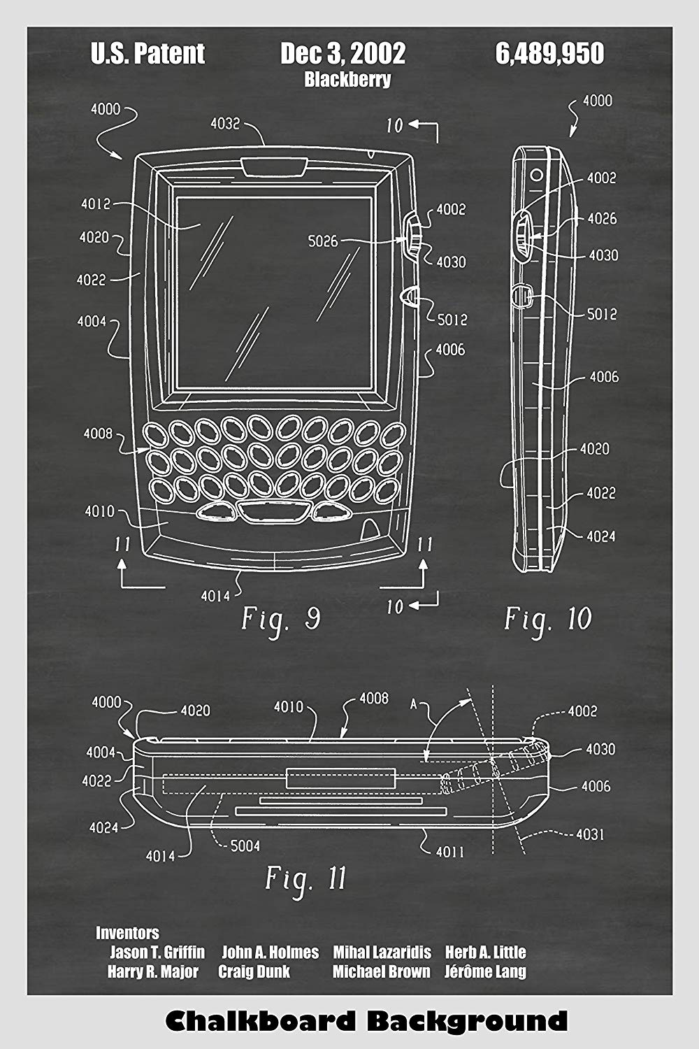 Blackberry Hand Held Electronic Device Patent