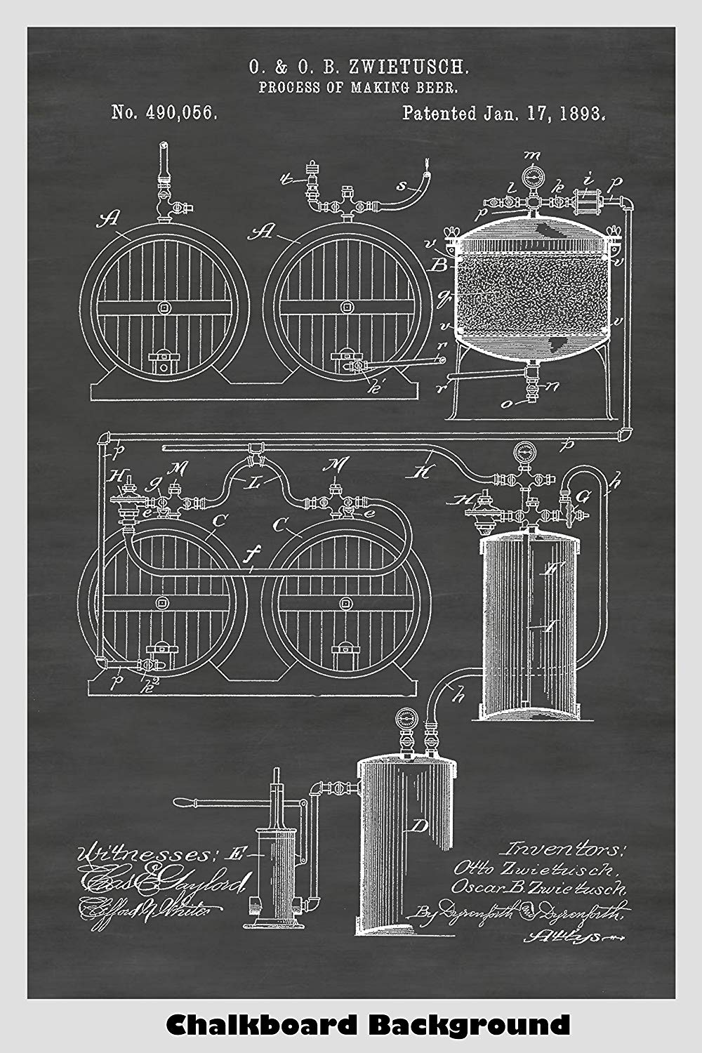 Patent describing a Victorian Era method of making beer