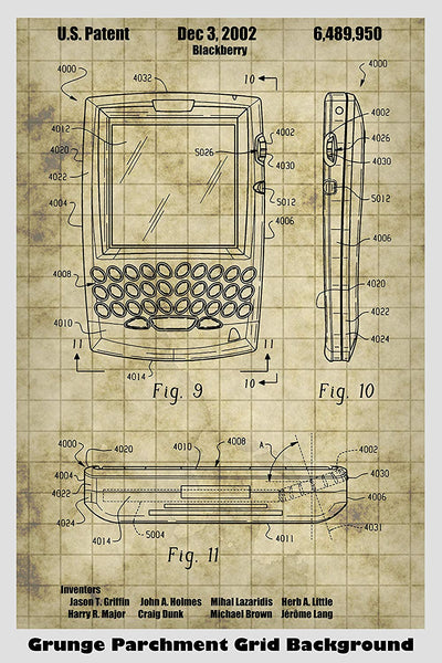 Blackberry by RIM Poster Patent Print Art Poster