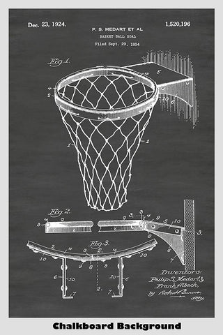 Great patent image of a basketball hoop and net