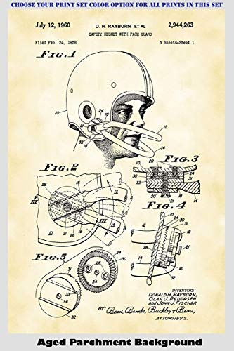 Vintage Football Patent Print Art Posters Wall Decor Collection