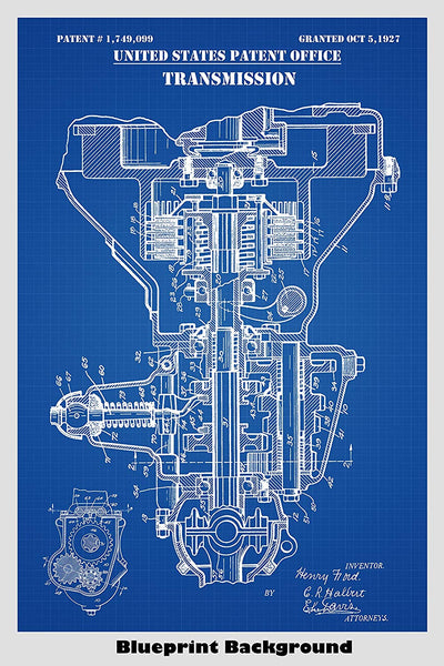 Antique Ford Transmission Patent Print Art Poster