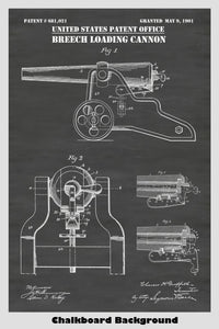 Breech Loading Cannon by Winchester Repeating Arms Patent Print Art