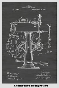 Scroll Saw Poster Patent Print Art Poster
